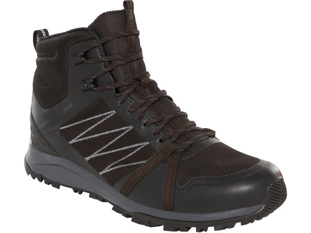 The North Face Litewave Fastpack II Mid GTX Zapatillas Hombre, tnf black/ebony grey